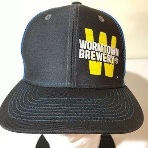 Wormtown Brewery Snapback Mesh Trucker Hat